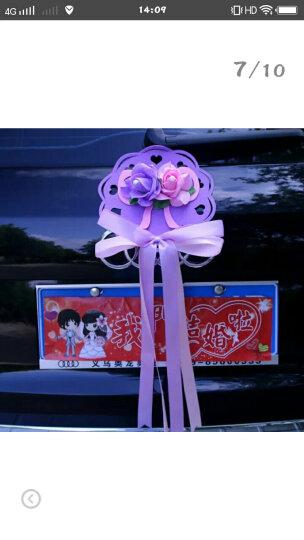 婚庆用品婚车装饰套装花车主婚车装饰车头花婚车创意装饰结婚用品 粉色蝴蝶双心款 晒单图