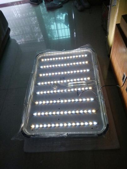 耀林LED吸顶灯水晶客厅灯长方形现代简约卧室灯饰三室两厅灯具套餐 套餐4两室一厅到手价399元 晒单图
