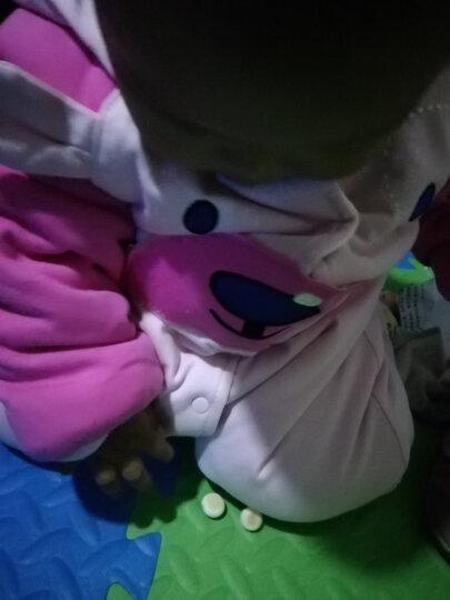 wua.wua婴儿连体衣冬季宝宝衣服0-1岁加棉婴儿衣服 加厚保暖外出服 顽皮熊-粉红 90/1-2岁 晒单图