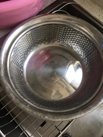 SIMELO厨房调料盆料理碗滤水盆加厚不锈钢米筛三件套 晒单图