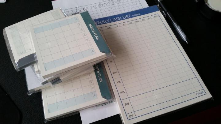 卡杰CAGIE便签纸小号大号便签本可撕多功能表格本每日计划50张 每月计划15张 拿手菜清单 晒单图