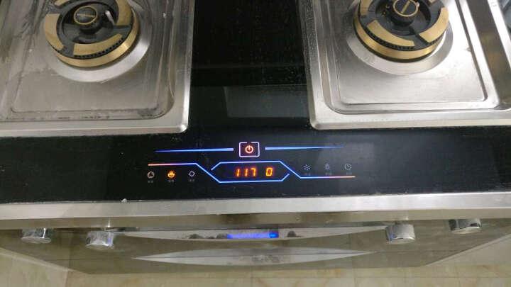 浙康 T90新款 集成灶 双核双电机 侧吸式 自动清洗 蒸箱烤箱一体机 下排烟环保灶具套装家用 高配 W90双电机 包边门板 天然气 晒单图
