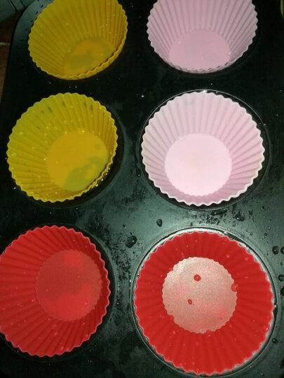 百钻硅胶蛋糕杯 耐高温家用布丁马芬杯 小蛋糕米发糕烘焙模具12个 晒单图