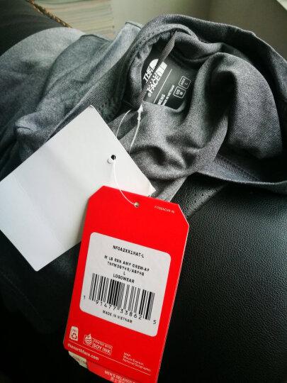 北面(The North Face) 速干T恤 男经典款新吸湿排汗户外徒步长袖 2XX1 2RV/深蓝/卡其 L 晒单图