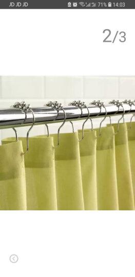 浴帘金属滚珠挂钩环不锈钢葫芦五铢大号窗帘杆挂钩 12个装(包邮) 晒单图