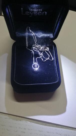 Leysen莱绅通灵珠宝 钻石项链 钻石吊坠女 显钻 悦动精灵金18K 唐嫣同款 送女友 白18K金吊坠+同色K金链套餐 晒单图