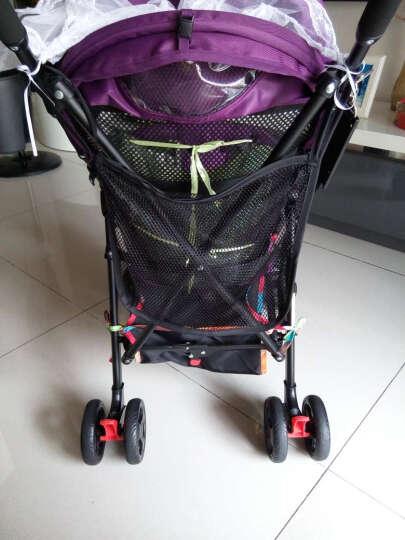 EQbaby 婴儿推车 夏季轻伞车便型折叠便携飞机手推车宝宝轻便BB童车 可躺红色 晒单图