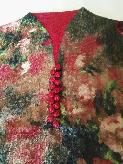 凤九 新款中老年女装婚宴结婚参加婚礼妈妈装春夏装礼服真丝连衣裙唐装风衣 墨绿 色 4XL建议137-155 斤 晒单图