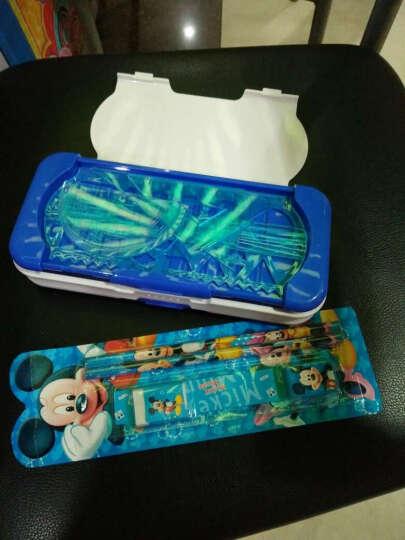 小灵精 迪士尼小学生男女三层塑料文具盒可爱卡通创意儿童多功能铅笔盒 带套尺【四件套】美国队长-蓝色 晒单图