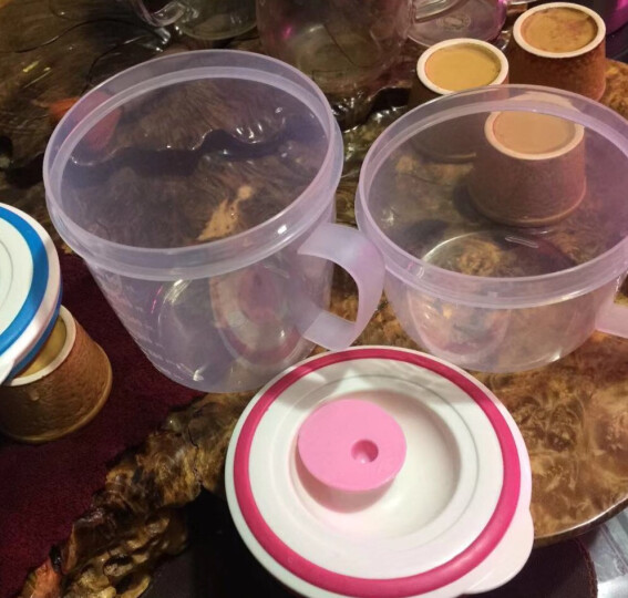 华美日用 带柄可微波炉加热汤碗带盖隔热防烫点心泡面碗粥碗小学生儿童饭盒密封保鲜防溢牛奶杯果汁杯单个 大号700ML红色9691 晒单图