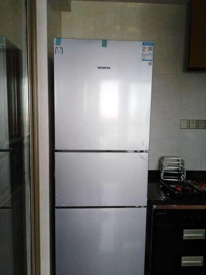 西门子(SIEMENS)274升 三门冰箱 创新混冷  零度保鲜 LED内显(银色) BCD-274W(KG28UA290C) 晒单图
