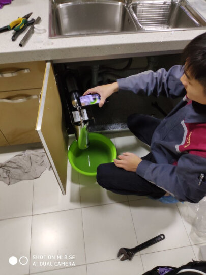 海尔(Haier)净水器 净水机 家用过滤器 HU603-5A厨房直饮机 自来水过滤器 净化升级版 晒单图