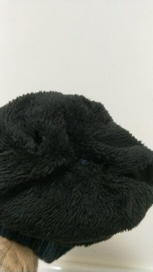 LOVEBBF.WLP&GYF 秋冬可爱撞色毛球帽 女士毛线帽子女 保暖加绒加厚针织帽 套头滑雪帽 MZ-71-藏青(绒里) 晒单图