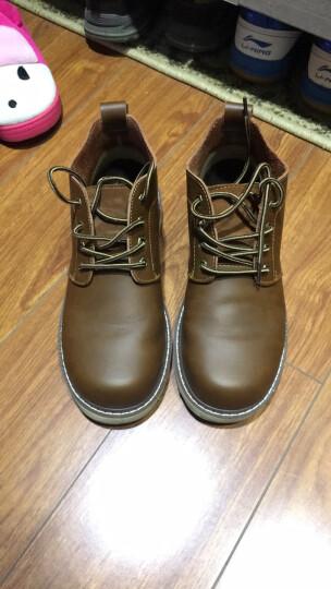 马登 马丁靴男士皮靴工作户外短靴工装鞋大头鞋子男靴真皮靴子 蜜蜡色 41 晒单图