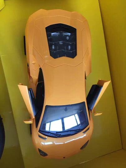 2018大型升级款1:12布加迪变形车遥控车电动赛车男孩4-6岁儿童玩具车遥控汽车模 34cm方向盘重力感应(红色) 晒单图