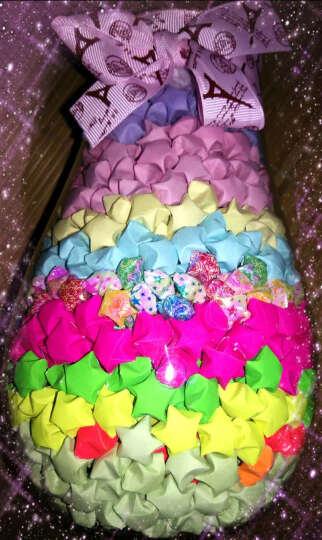 物有物语 1314颗幸运星彩虹瓶子木塞玻璃瓶许愿瓶星星瓶创意节日礼品春节生日礼物 材料  折纸+瓶子+装饰及袋子 晒单图