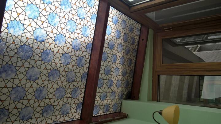 安贝易无胶静电玻璃贴膜超厚艺术窗花贴卫生间防晒立体玻璃纸透光 阿拉伯之星 60厘米宽每米价格 晒单图