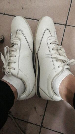 卡帝乐鳄鱼(CARTELO)男鞋 新品商务休闲鞋学生板鞋 男士户外小白鞋百搭鞋子 男 经典白色/white 41 晒单图