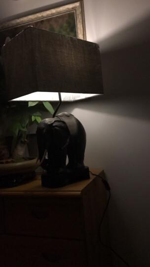 络曼(LUOMAN) 东南亚大象台灯复古典美式台灯卧室床头灯欧式书房客厅创意装饰灯 晒单图