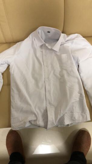 伯曼衬衫秋冬衬衣男加绒保暖纯白色免烫商务休闲工装工作服加厚长袖衬衫男 JRB1678-冰绿色 42 晒单图