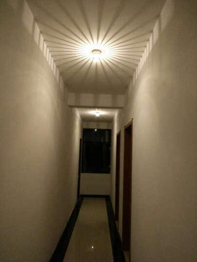 卡圣创意led过道灯具走廊灯玄关灯饰门厅灯走道客厅灯吸顶灯筒灯射灯简约现代0786 1瓦led绿光明装 晒单图