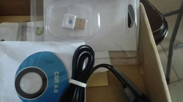 Vup 蓝牙适配器4.0免驱创意配件 USB音频信号发射接收器 适用于台式笔记本电脑 黑色-蓝牙适配器支持Win7/8/10 晒单图