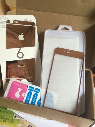 品陌 苹果iPhone8plus 情侣手机壳保护套时尚玻璃壳 5.5英寸 玫瑰金前膜+背膜4.7英寸 晒单图