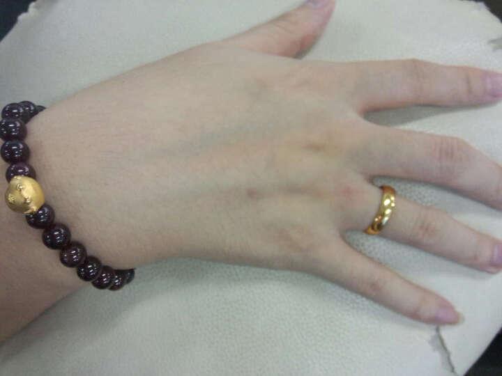喜钻 足金橄榄珠黄金项链 黄金项链橄榄珠足金圆珠圆筒男女情侣款 约13.7g左右链长52CM 晒单图