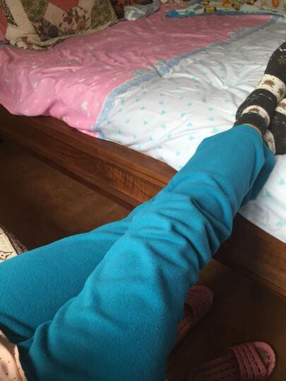 极星户外男女秋冬防风保暖运动抓绒长裤AGPA21266 女-黑色 XXL 晒单图