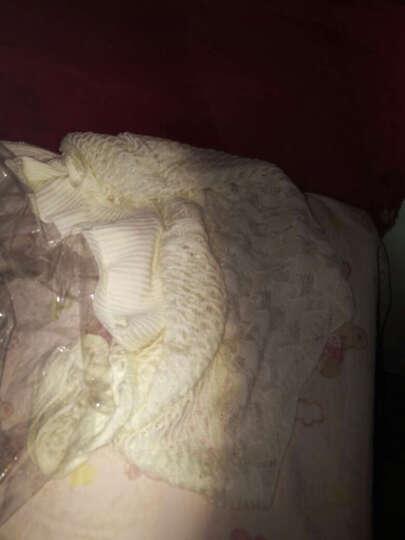 韩版一字领中袖罩衫蝙蝠袖宽松大码镂空针织衫套头毛衣女LK4005YZ 白色 均码 晒单图