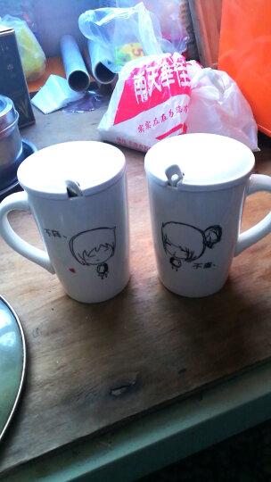 铂玉 创意礼品可爱情侣对杯带盖水杯 喜庆婚庆陶瓷马克杯子结婚礼物 婚庆杯一对 12号不离不弃情侣对杯 晒单图