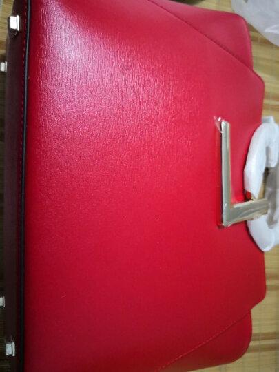 【七夕礼遇】GL/女包姬龙雪手提包2019春夏奢侈品大容量单肩斜挎包全球购时尚百搭牛皮新娘包 红色 晒单图