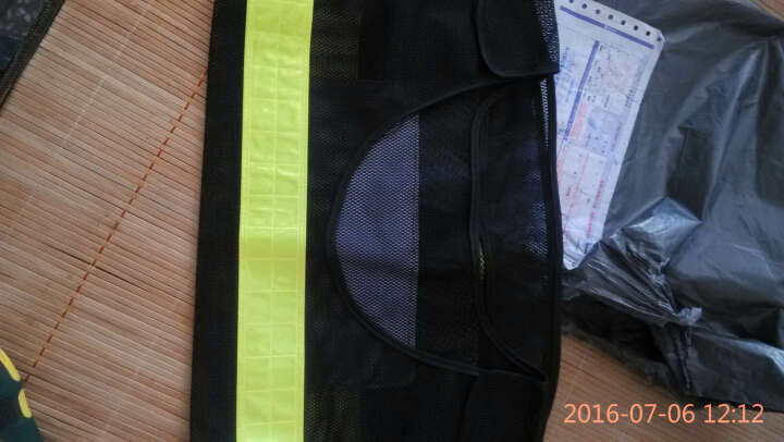 9F 反光背心 反光马甲 交通交警反光衣 骑行环卫施工作安全荧光衣服 网格款-黑色 晒单图