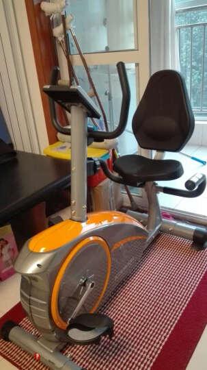 康乐佳家用静音卧式磁控健身车 中老年健身运动器材 黄色 晒单图