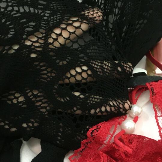 霏慕情趣内衣女套装诱惑开档露乳sm网纱蕾丝三点式吊带裙睡衣均码 7402 晒单图
