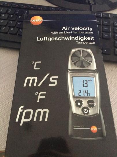 德国德图风速仪 testo410-1 叶轮式风速测量仪风速空气温度监测仪0560 4101 晒单图