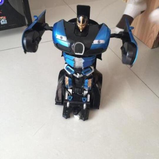 【感应变形】胜雄充电遥控车变形机器人金刚战车人遥控汽车男孩儿童玩具汽车模型 兰博基尼红(手势感应变形)送两块电池+变形玩具 晒单图