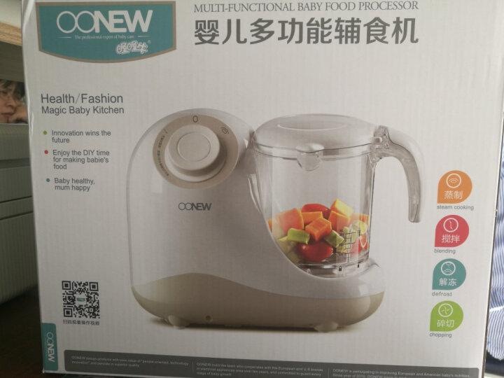 喔喔牛(oh snail) 婴儿童宝宝辅食机料理机电动智能调理蒸制搅拌一体机食物研磨器 灰色手动版 晒单图