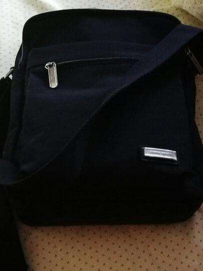皮尔卡丹单肩包男士斜挎包 男包帆布包防水休闲运动包旅行包 X4271L1-6大号 晒单图
