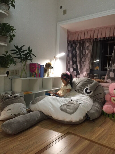唐宫阁 毛绒玩具龙猫榻榻米双人床垫懒人儿童沙发地板睡垫可拆洗大靠垫 家居睡袋情侣生日礼物 单人款1.8米*1.4米 晒单图