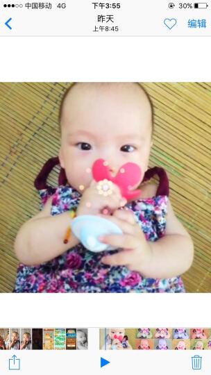 【全球购】日本原装 Pigeon贝亲婴儿响铃牙胶固齿器 磨牙训练 红色  132213 晒单图