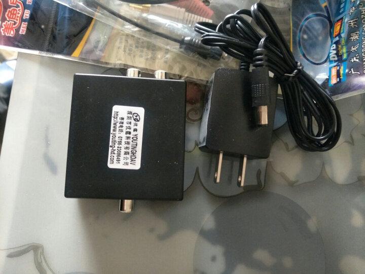 优霆 同轴或光纤数字音频转左右声道或3.5耳机立体声转换器PCM双声道接2.0音箱 标配加光纤线和莲花左右线 解码音频转换器 晒单图