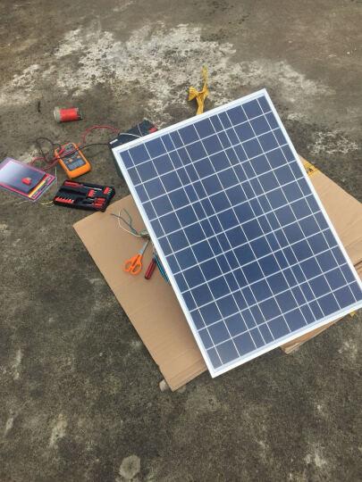 50W多晶太阳能光伏电池板带支架可手提板充12V电瓶家用太阳能发电系统组件带控制器带线 晒单图