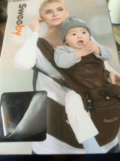 Sweeby(史威比)婴儿背带腰凳抱带前抱式多功能宝宝背带双肩透气儿童坐凳背带夏 藏蓝色 晒单图