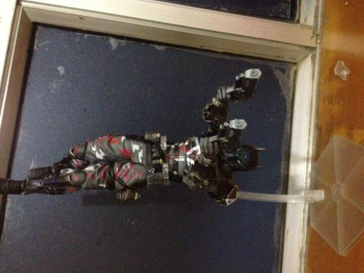 美国队长手办玩具钢铁侠蜘蛛侠蝙蝠侠摆件模型PLAY ARTS改关节可动复仇者联盟3盒装男生创意礼物 黑豹 晒单图