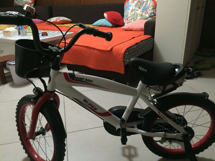 赛利迪 儿童自行车男女宝宝12寸14寸16寸单车3岁5岁7岁9岁带辅助轮小孩山地脚踏车 神秘蓝 12寸 适合身高85-105cm 晒单图