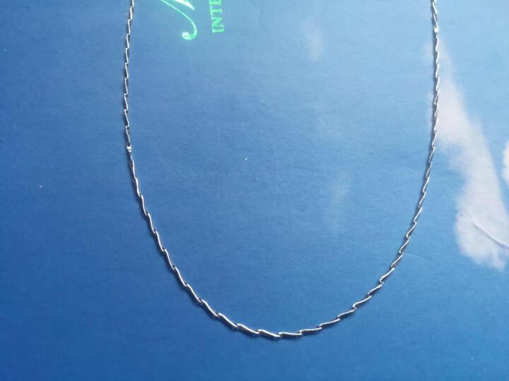 百年福牌 铂金项链女 PT999瓜子链 白金锁骨项链女款 4.33克40厘米 晒单图