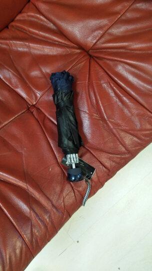 天堂伞 加大加固三折双人缎面黑胶商务晴雨伞太阳伞 宝兰33196E 晒单图