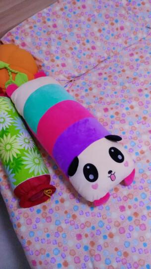可爱卡通动漫熊猫长条睡觉抱枕毛绒玩具单双人枕头靠垫背创意可拆洗女生儿童生日礼物懒人圣诞节礼物 小鸡惊讶款 单人枕70X25CM 晒单图