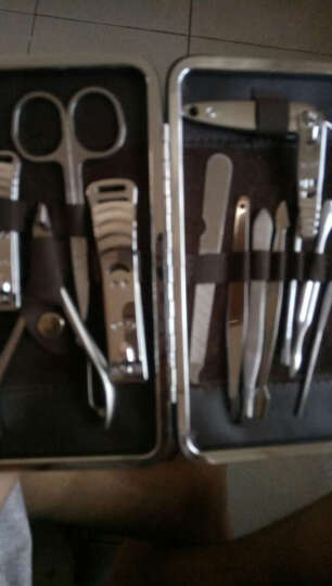 今利便携式指甲刀套装 多功能指甲剪12件套装 去死皮美甲修脚工具指甲钳创意礼物 金龙纹 晒单图